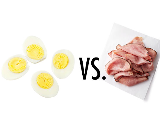 Eggs vs. Lunch meat