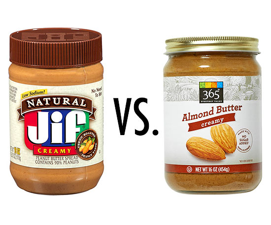 Peanut butter vs. Almond butter