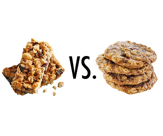 Granola bar vs. Oatmeal raisin cookie