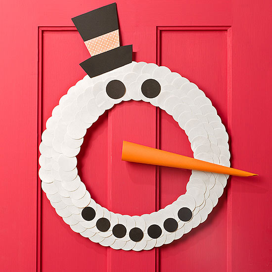 Frosty the Snowman wreath