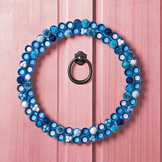 Blue circles wreath