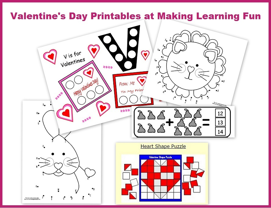 picture regarding Preschool Valentine Printable Worksheets referred to as Totally free Valentines Working day Preschool Packets and Printables Dad and mom