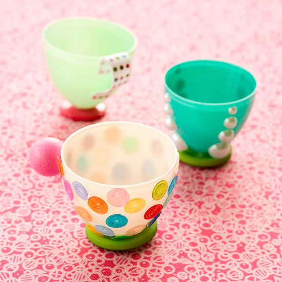 Tiny Plastic Egg Teacups