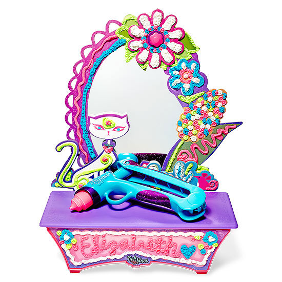 Play doh vanity mirror