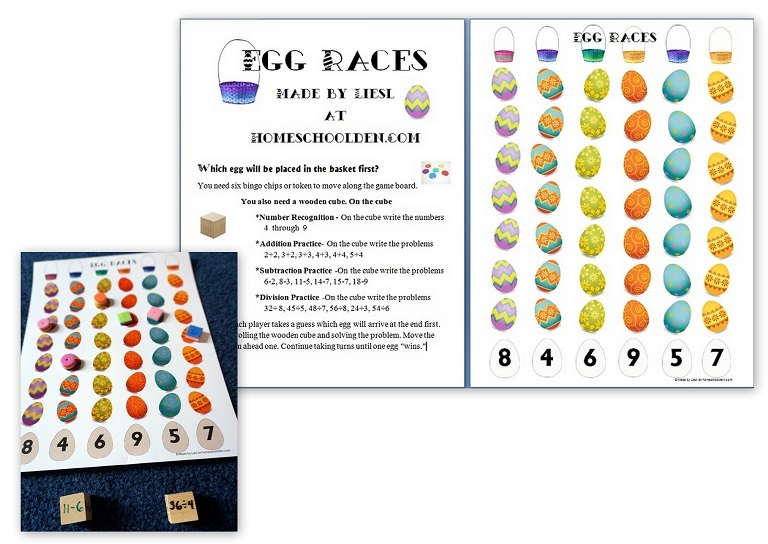 Egg Races Math Fact Game