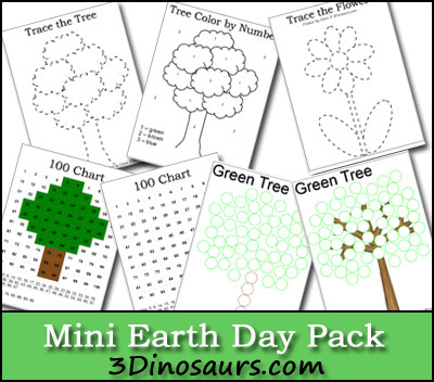 Earth Day Packet - 3 Dinosaurs
