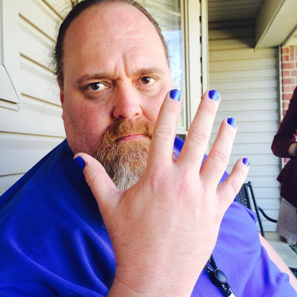 Why This Dad Is Painting His Nails Blue for Autism