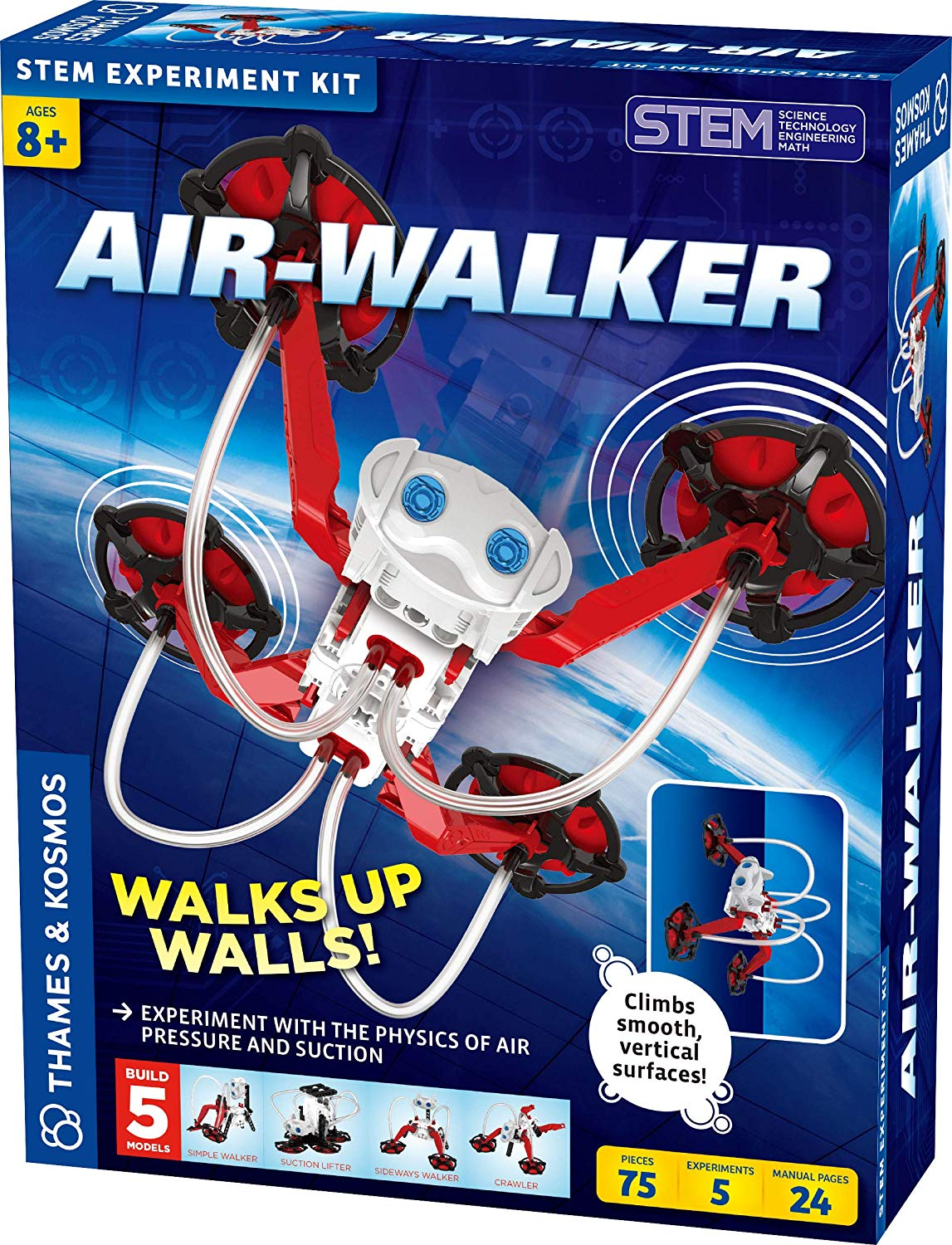 Air-Walker Gravity-Defying Wall-Walking Robot Science Experiment Kit