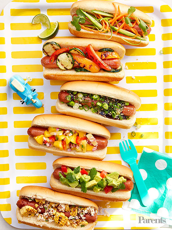 Hot dog toppings