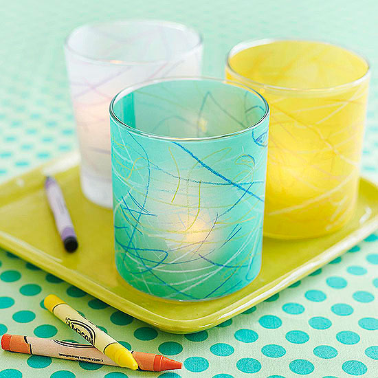 Colorful Vellum Votives