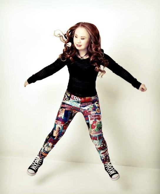 Aspiring model with Down syndrome