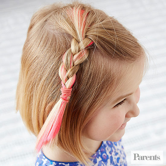 girl with half-up side braid