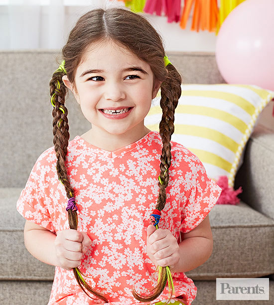 girl with twisted pigtails
