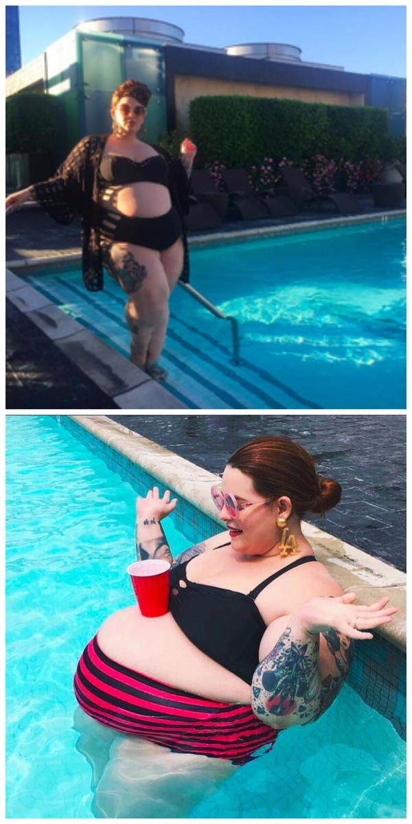tess holliday bikini bumps