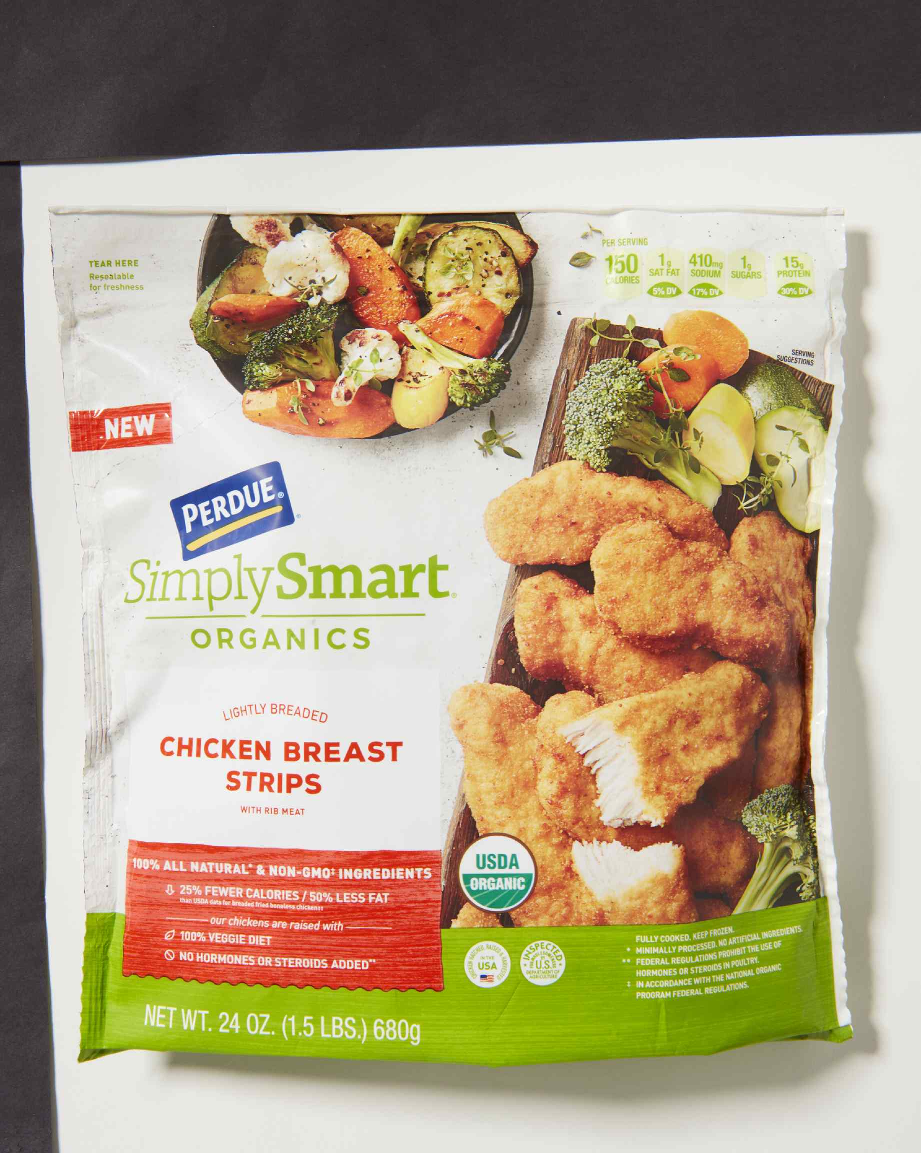 Perdue Simply Smart Organics Lightly Breaded Chicken Breast Strips