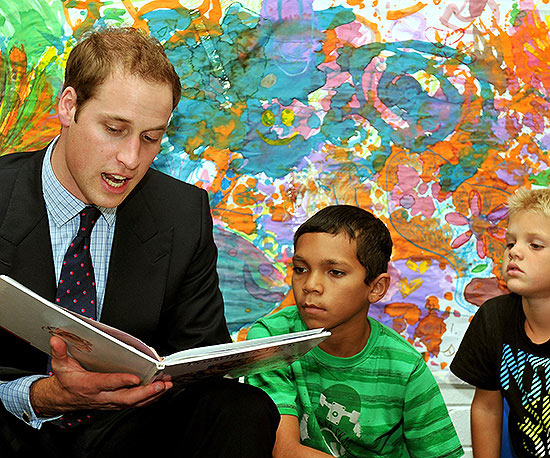 Prince William Reads Aloud to Children