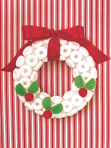 Lifesaver candy wreath