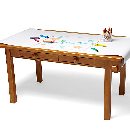 Light Honey Low Table from Land of Nod
