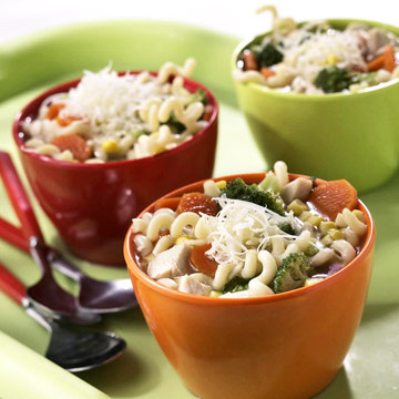 Choose-a-Vegetable Chicken and Pasta Soup