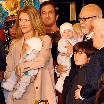 Celine Dion and her family