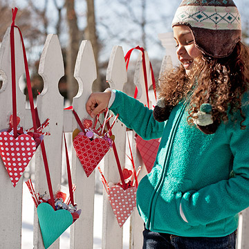 Heart-shaped goody bags