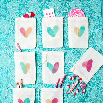 Pouches filled with candy