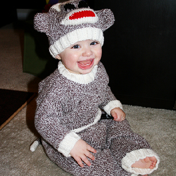 sock monkey Halloween costume