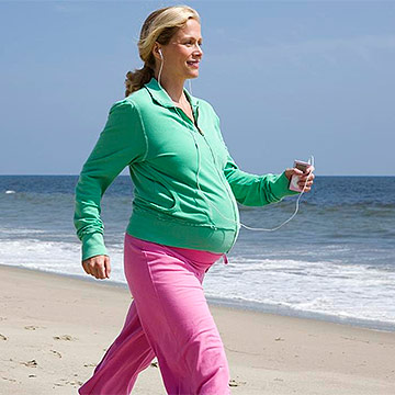 pregnant woman walking