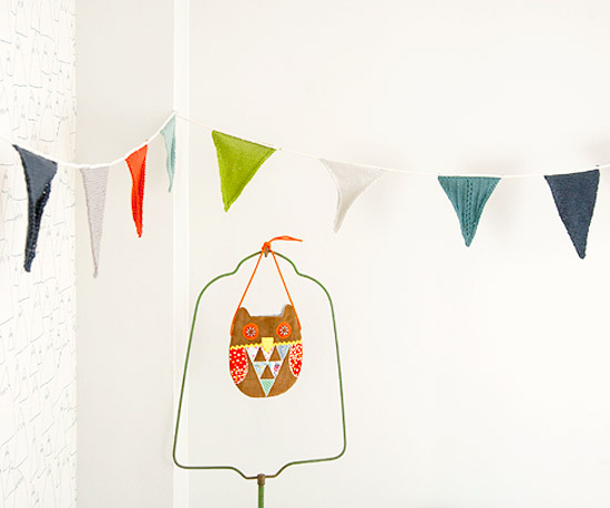 Playful Knitted Pennants