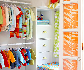entry to closet in Ultimate Nursery