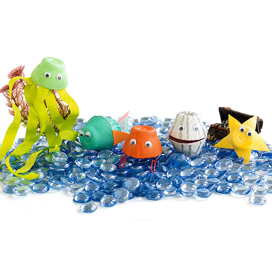 Egg Carton Sea Creatures