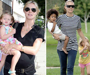 Heidi Klum before and after pregnancy