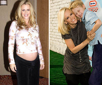 Jenny McCarthy before and after pregnancy