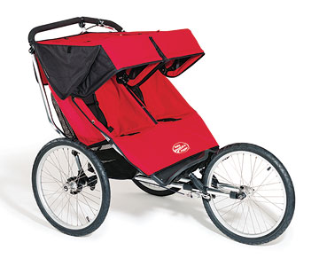 Baby Jogger Performance Double Stroller, red