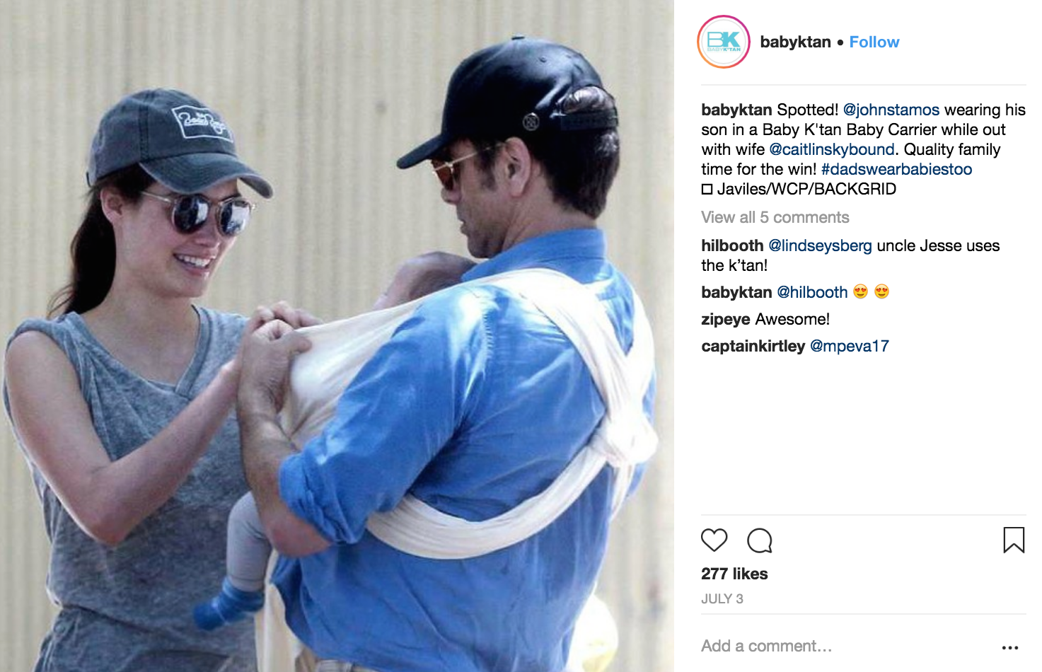 John Stamos' Baby Carrier