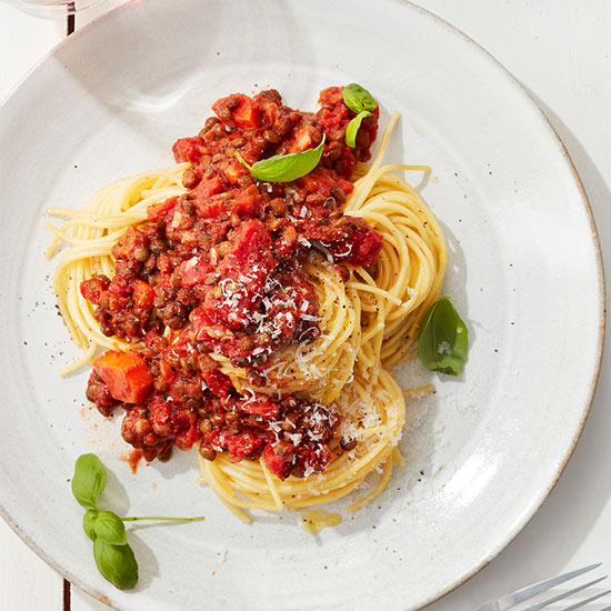 Spaghetti with Lentil Bolognese recipe image