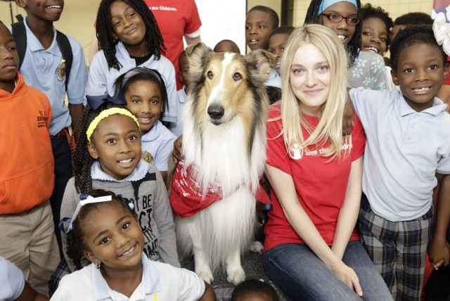 Dakota Fanning at Save the Children Prep Rally