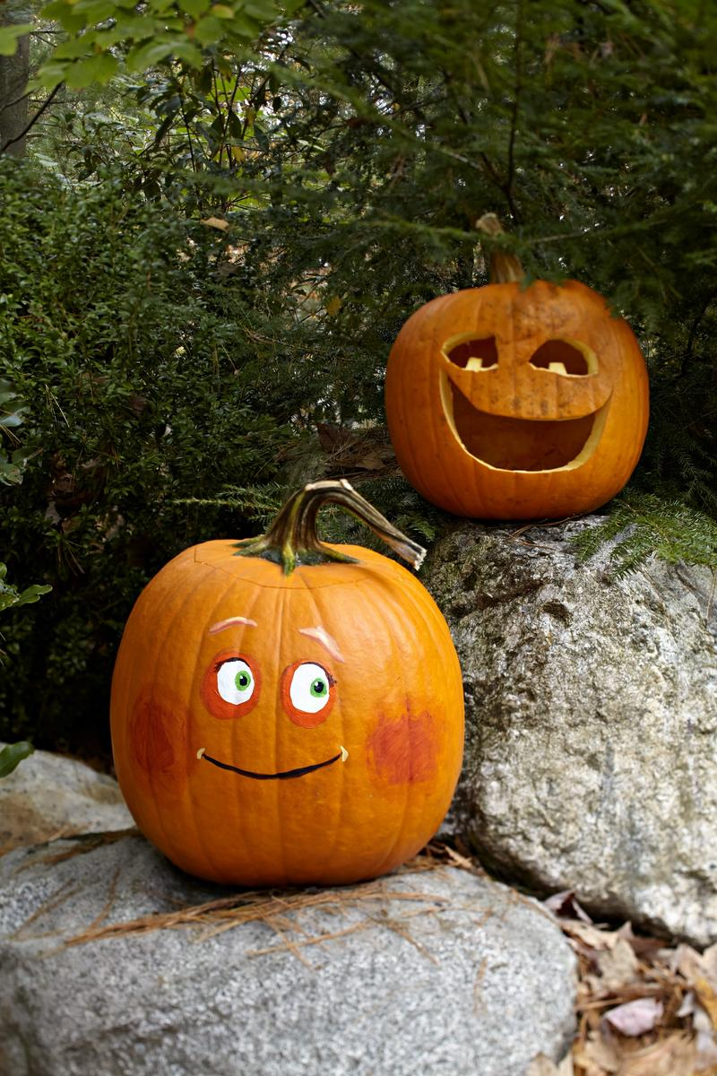 Painted and Carved Pumpkins