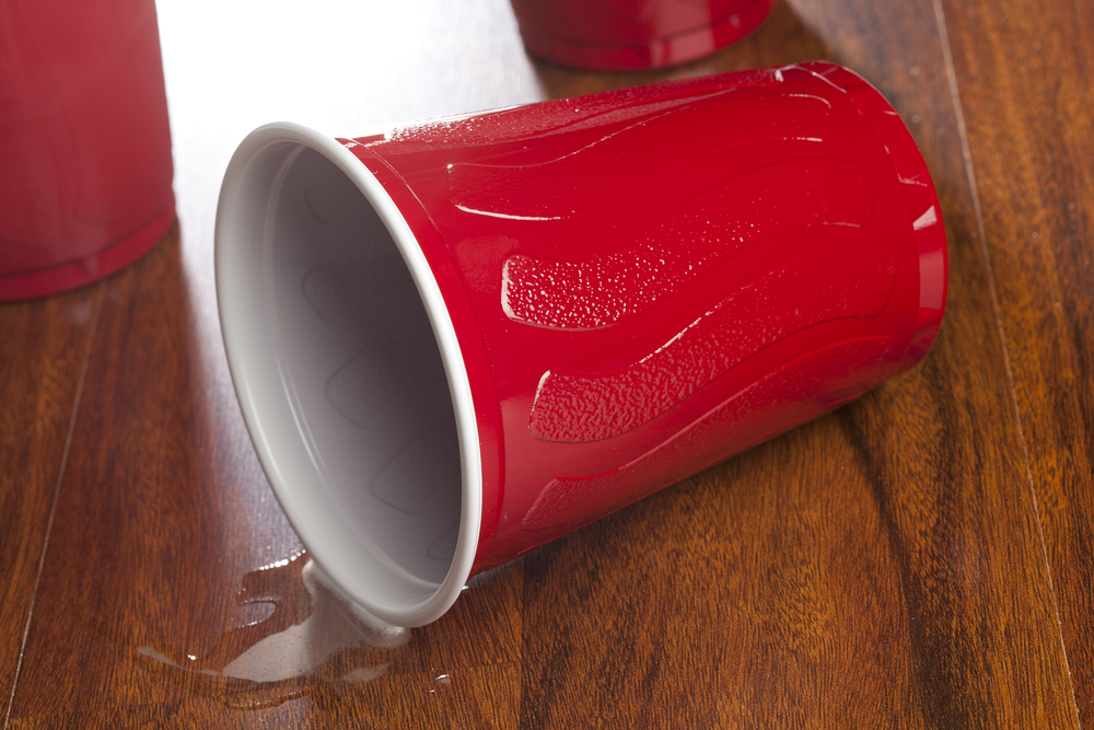 Red solo cup spilling