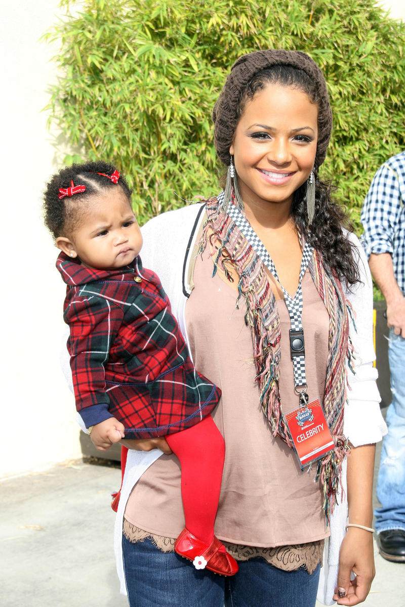 Christina Milian with Daughter