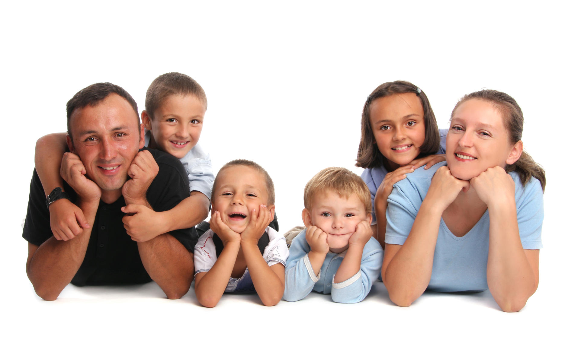 family with four children