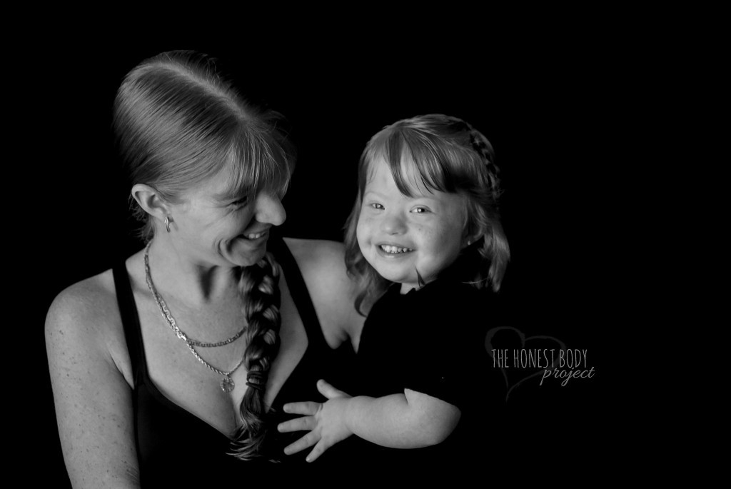 honest body project special needs photo of mom and daughter with down syndrome