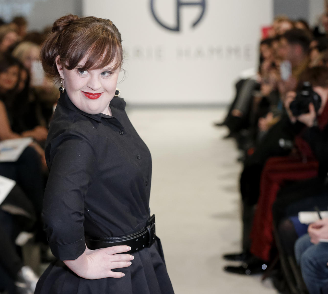 jamie brewer on ny fashion week runway