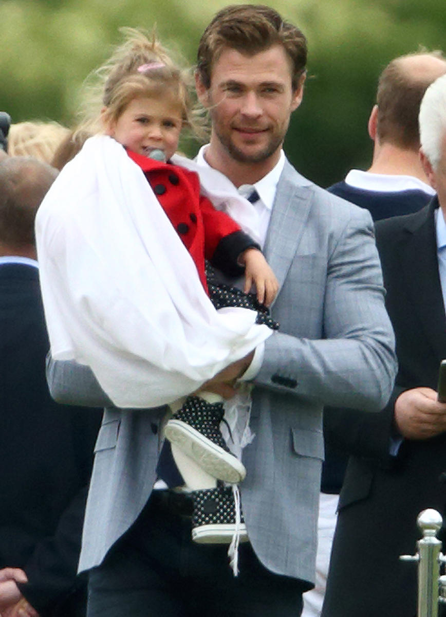 Chris Hemsworth and daughter India Rose