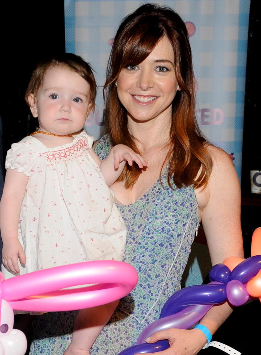 Alyson Hannigan and daughter Keeva