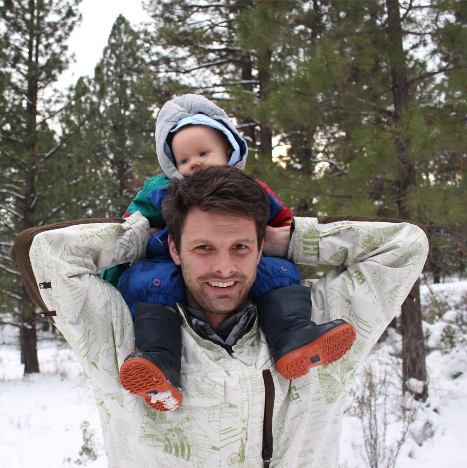Alex Green and son