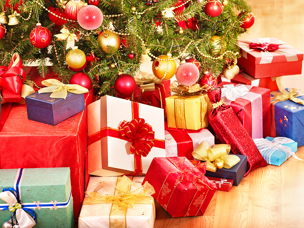 many Christmas gifts under tree