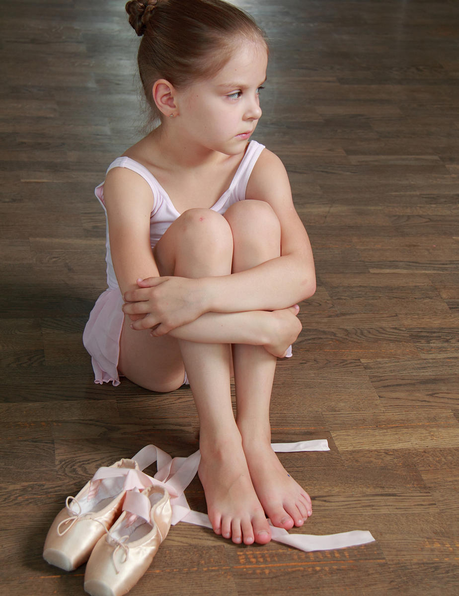 sad young ballerina