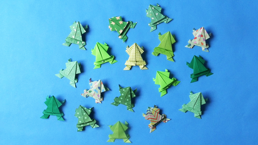 Origami Frogs Tutorial - Origami for Kids - Easy Peasy and Fun | 506x900