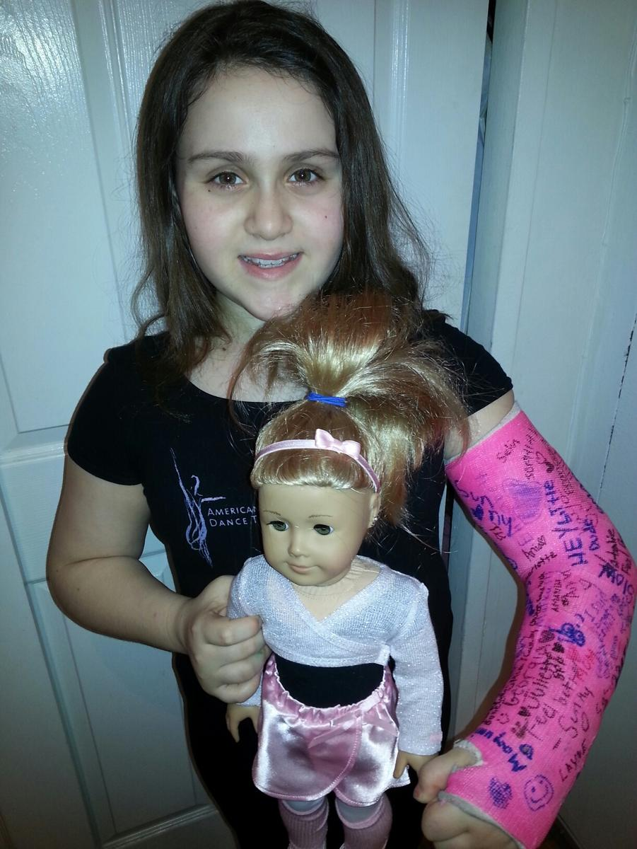 Isabella in a Cast following Urgent Care Visit